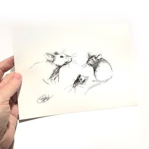 Original Art Mouse Mice Artwork listed by artist
